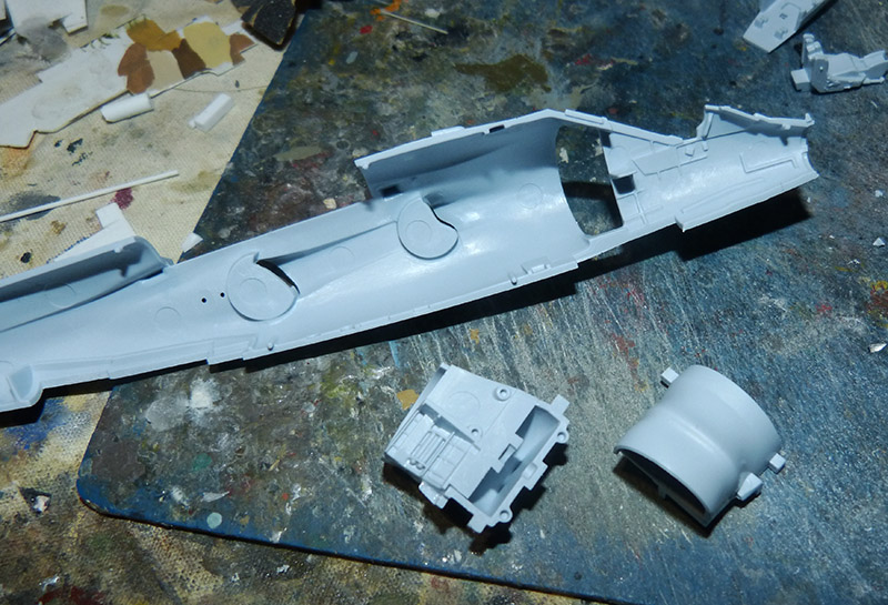 From the box - Harrier GR3 aux Malouines - Airfix - 1/72. Harrie16