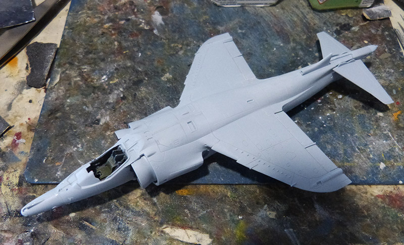 From the box - Harrier GR3 aux Malouines - Airfix - 1/72. Harrie30
