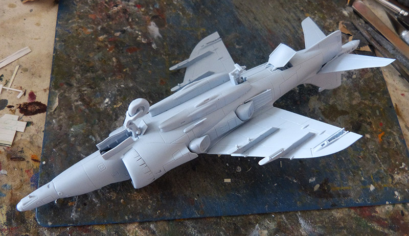 From the box - Harrier GR3 aux Malouines - Airfix - 1/72. Harrie35
