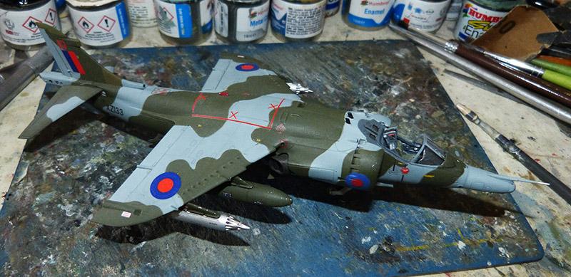 From the box - Harrier GR3 aux Malouines - Airfix - 1/72 *** Terminé en pg 2 Harrie51
