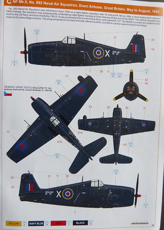 From the box - Hellcat NF Mk II - Eduard - 1/72. Hellca14