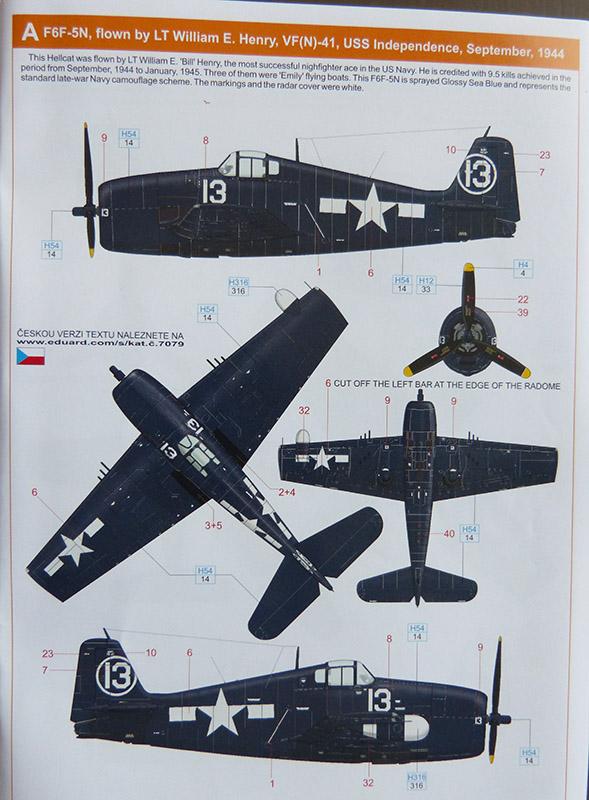 From the box - Hellcat NF Mk II - Eduard - 1/72. Hellca19