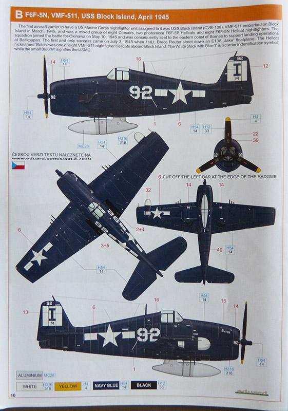 From the box - Hellcat NF Mk II - Eduard - 1/72. Hellca20
