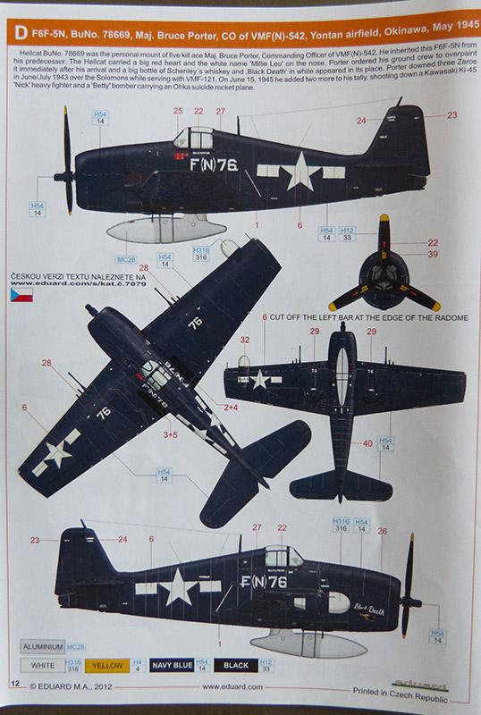 From the box - Hellcat NF Mk II - Eduard - 1/72. Hellca21