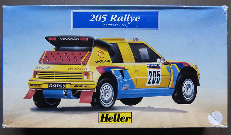 "205 Peugeot 1/43 Rallye ""la Colleuse"" - Challenge HF 4 ans  Peugeo35"