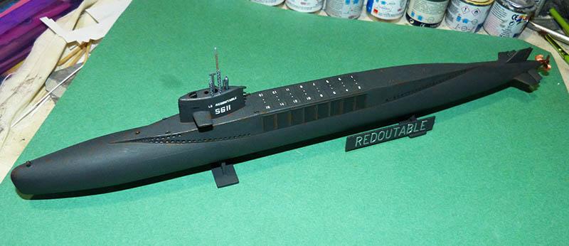 Sous-marin nucléaire  lanceurs d engins SNLE Le REDOUTABLE Réf ? Redout10