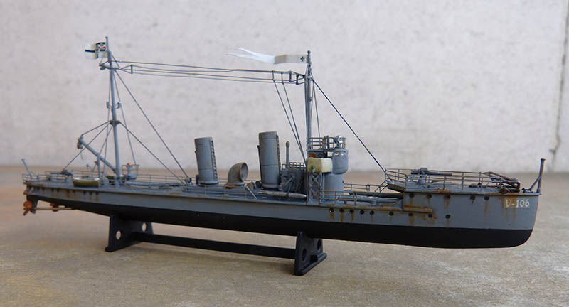 [Concours WW1]  Mirage Hobby - 1/400 - Torpilleur allemand V106. - Page 2 V106_125