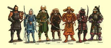 Les castes de Rokugan Clans11