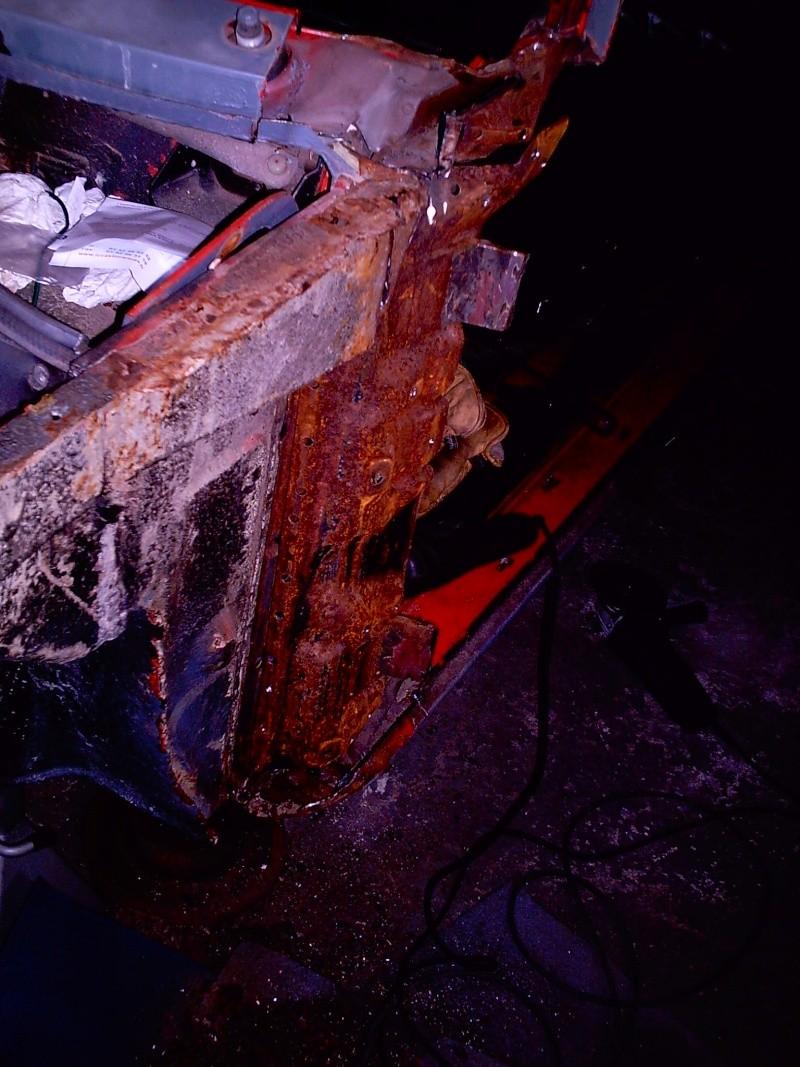 rouille trous rebouchage soudure....sauvetage du delvan Travau29