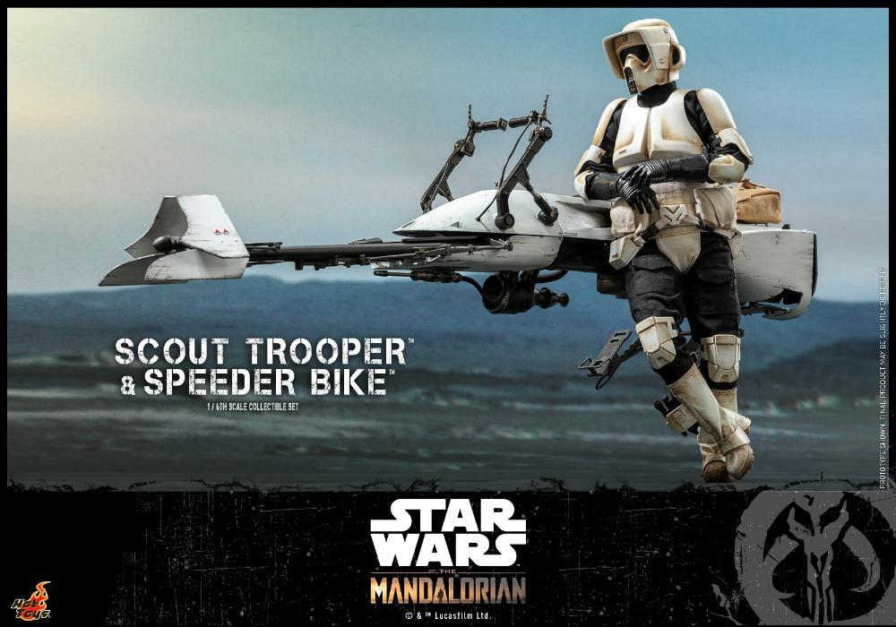 Scout Trooper & Speeder Bike Set 1/6 - Mandalorian - Hot Toy 0132