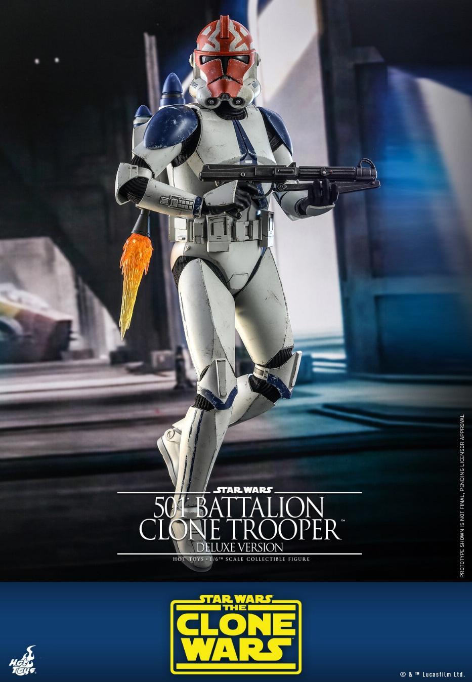501st Battalion Clone Trooper (Deluxe Version) - Hot Toys  0146