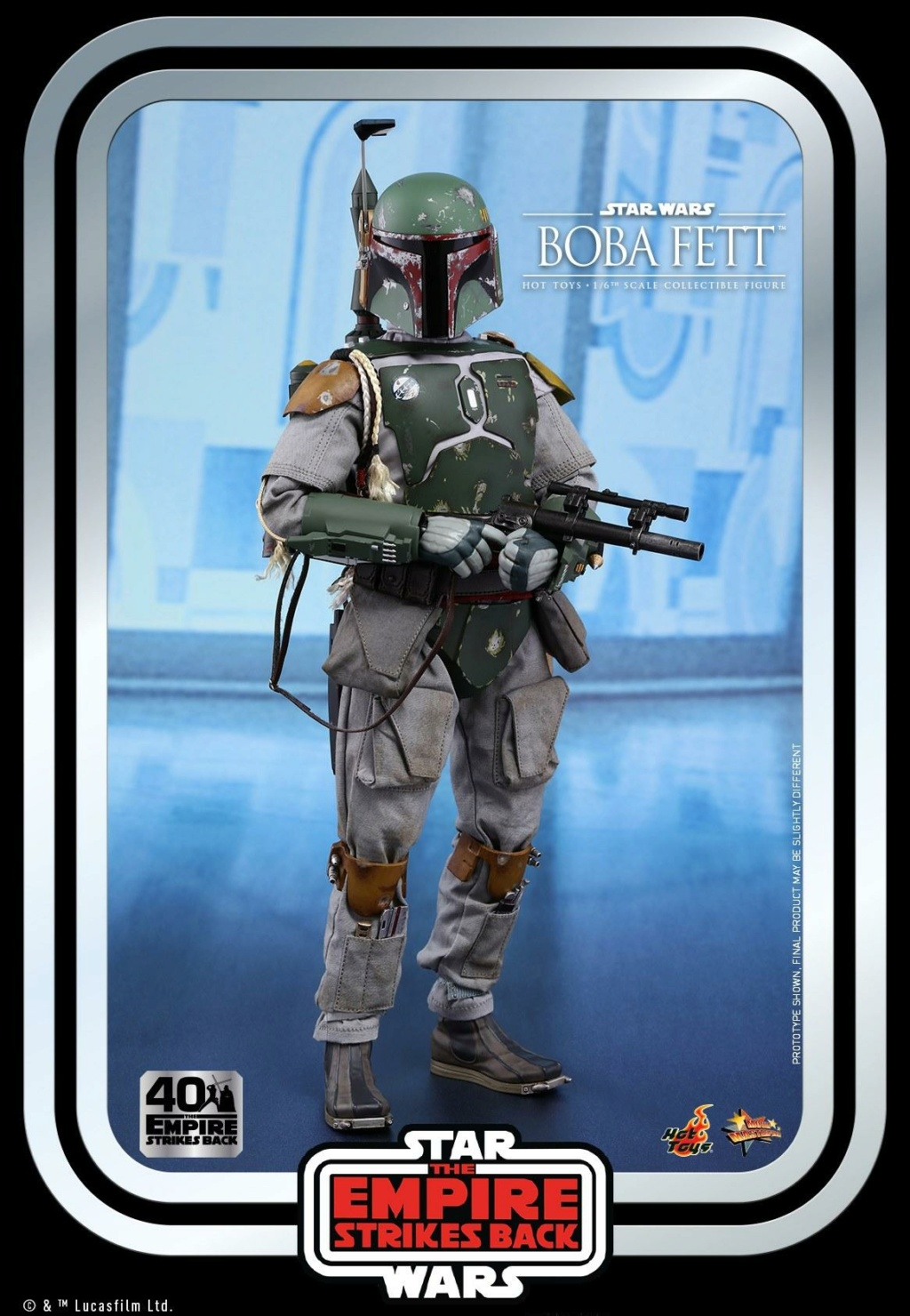 Boba Fett 1/6th scale Figure ESB 40th Anniv Hot Toys 0151