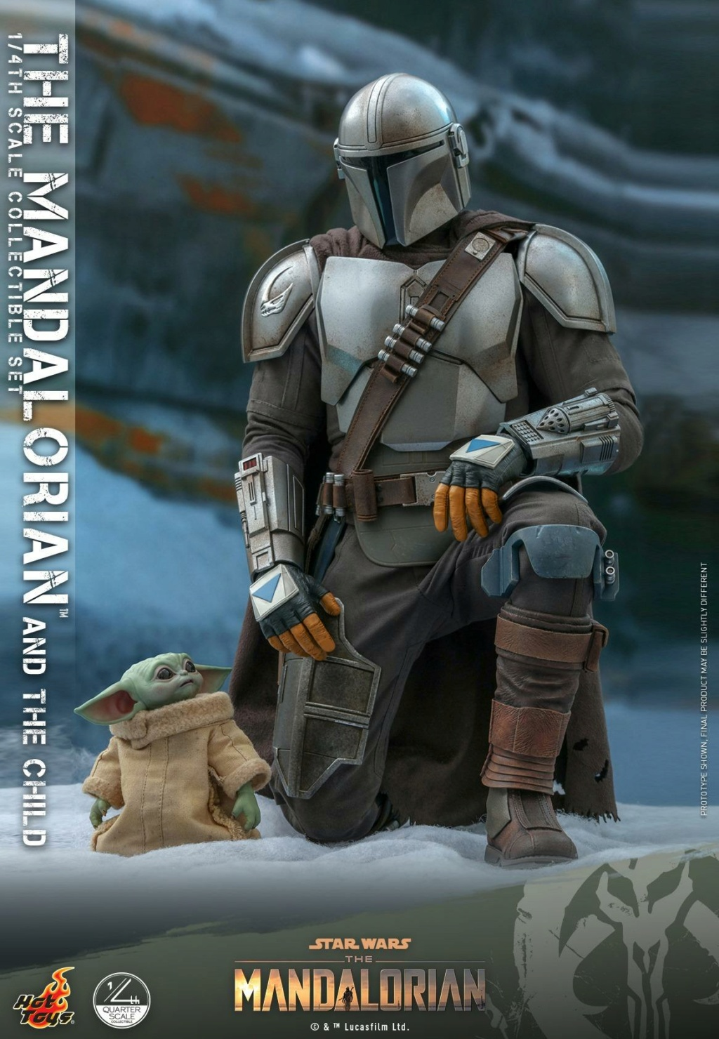 The Mandalorian & The Child Collectible Set - 1/4th Hot Toys 0154