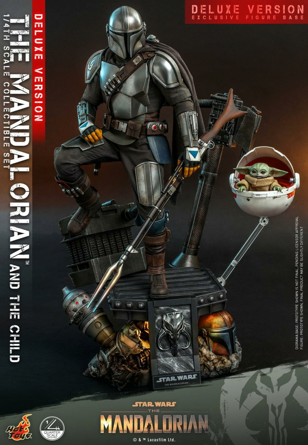 The Mandalorian & The Child Set (Deluxe) 1/4th - Hot Toys 0156