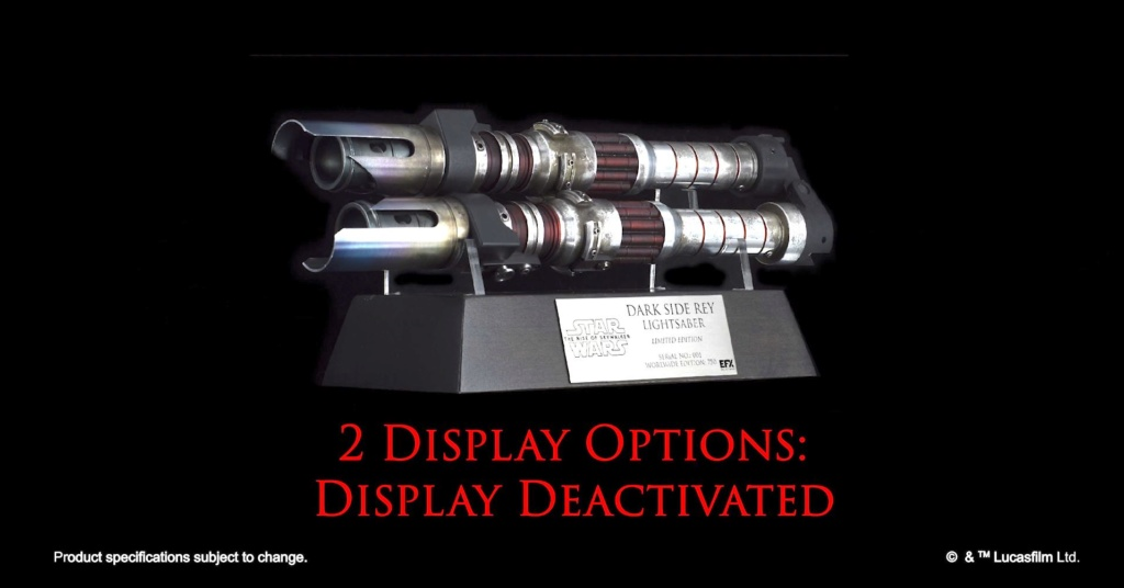 Dark Side Rey Lightsaber - LIMITED EDITION eFX Collectibles 0221