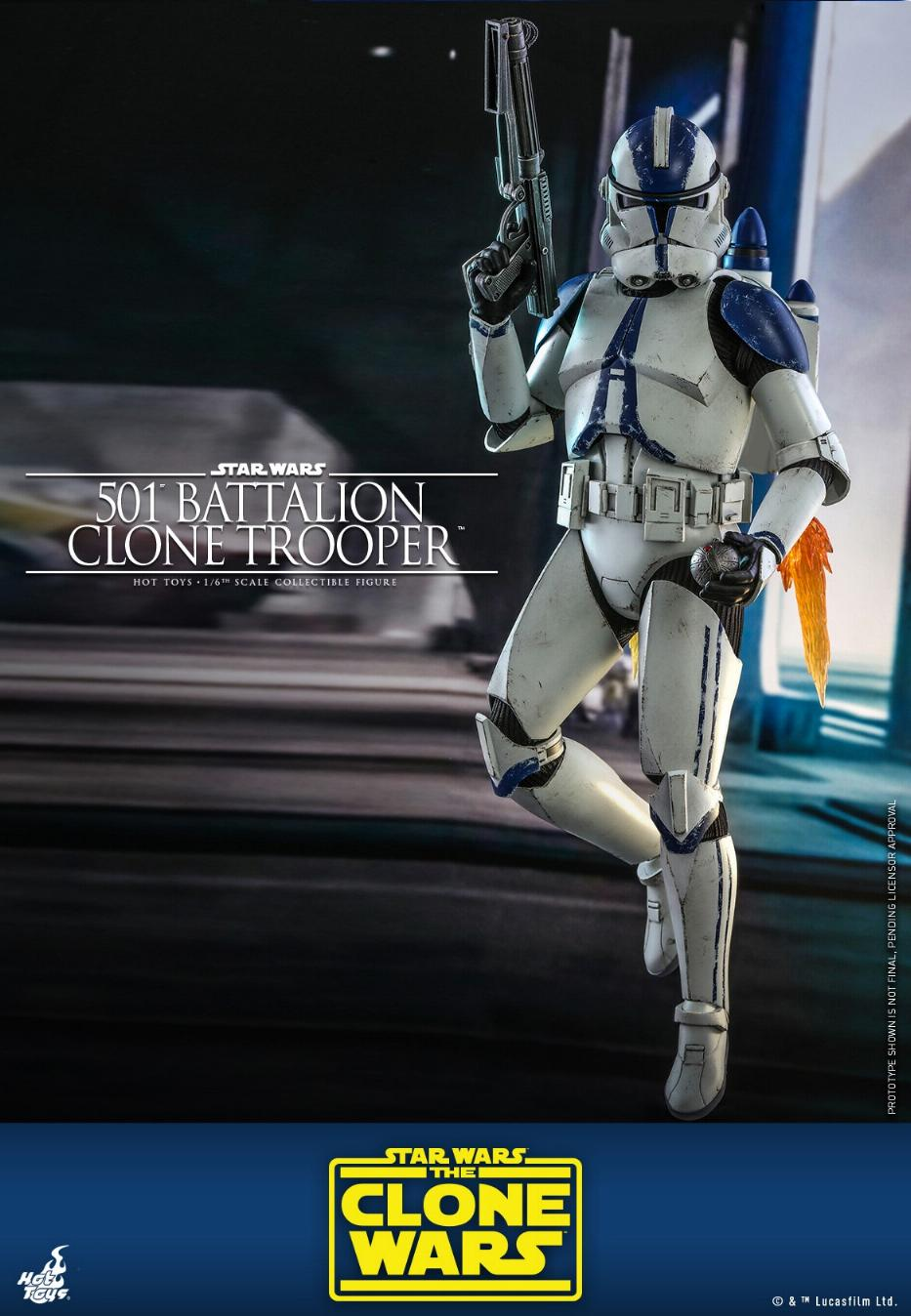 501st Battalion Clone Trooper - The Clone Wars - Hot Toys 0242