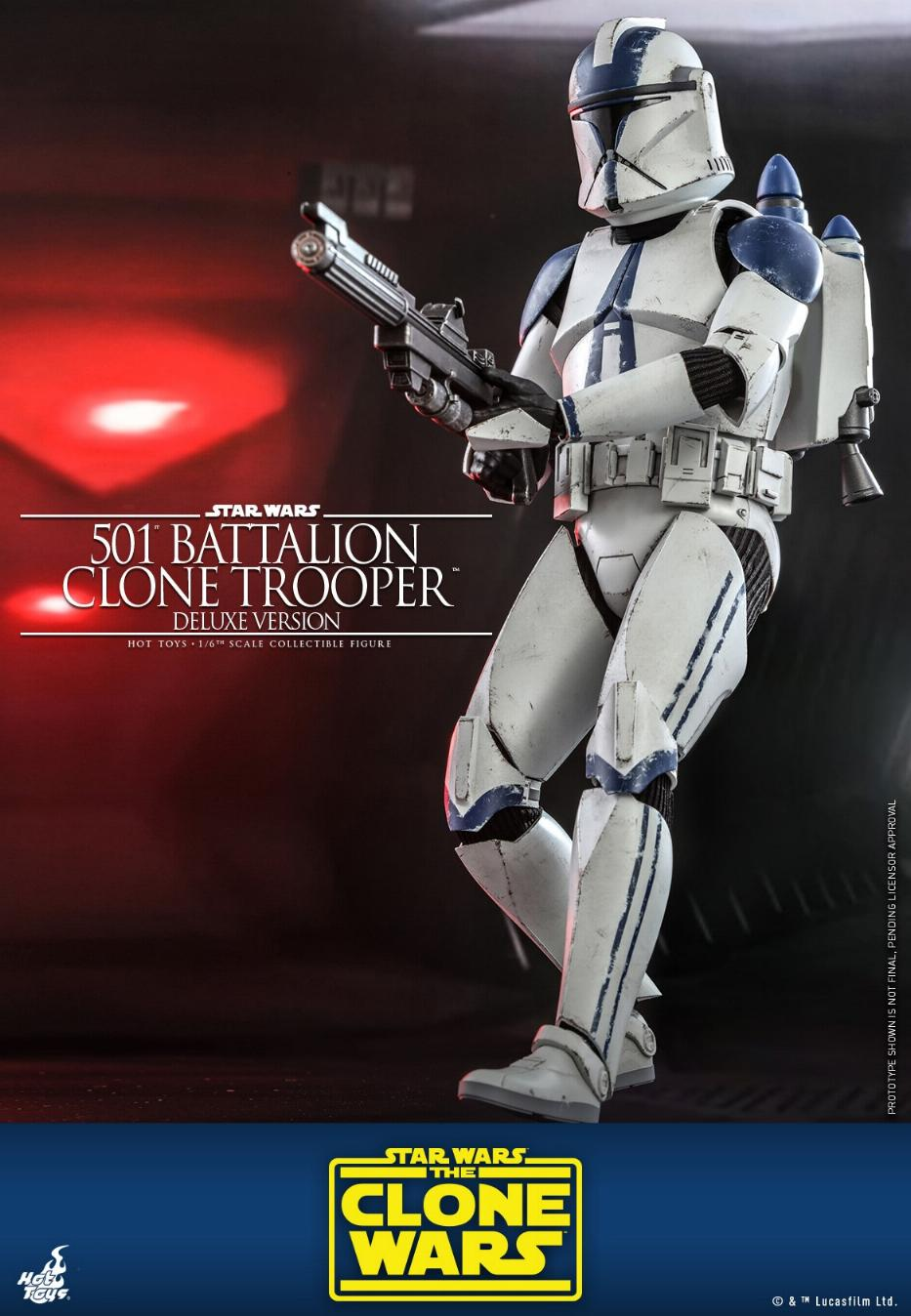 501st Battalion Clone Trooper (Deluxe Version) - Hot Toys  0243