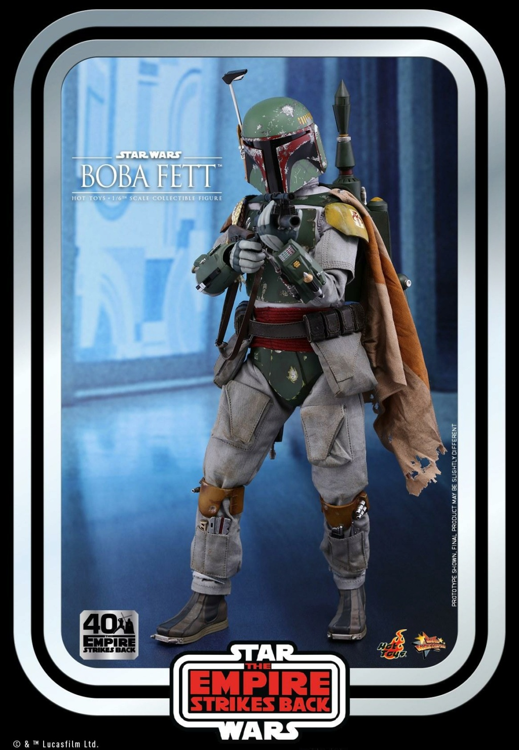 Boba Fett 1/6th scale Figure ESB 40th Anniv Hot Toys 0248