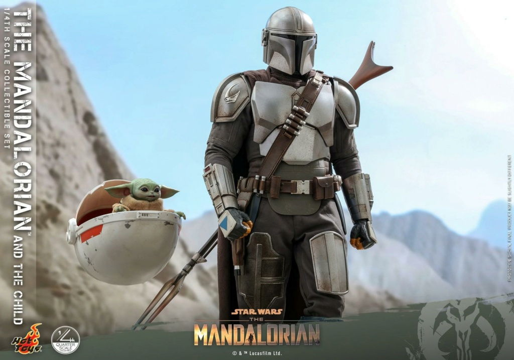 The Mandalorian & The Child Collectible Set - 1/4th Hot Toys 0251