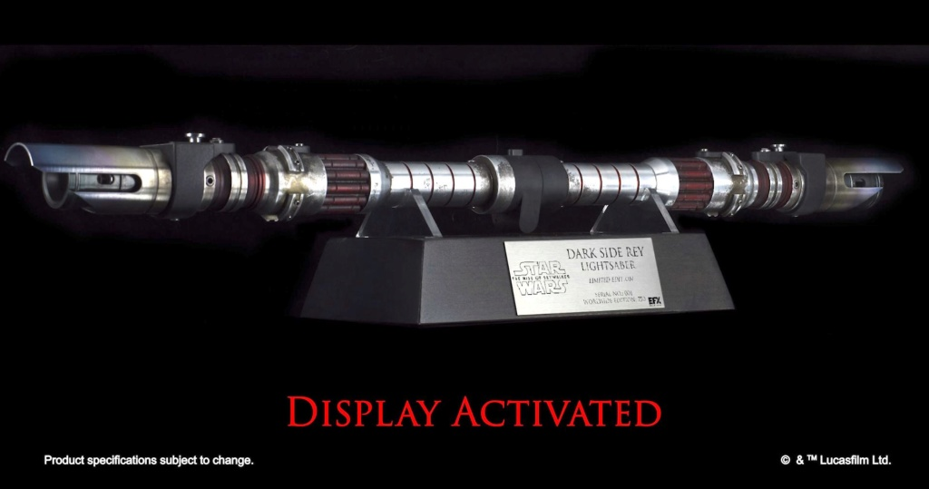 Dark Side Rey Lightsaber - LIMITED EDITION eFX Collectibles 0321