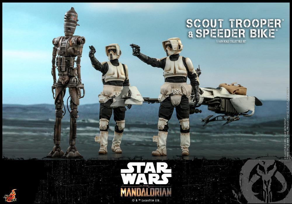 Scout Trooper & Speeder Bike Set 1/6 - Mandalorian - Hot Toy 0329