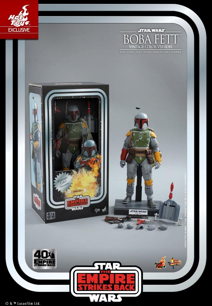 Boba Fett - 1/6th scale (Vintage Color Version) Hot Toys 0331