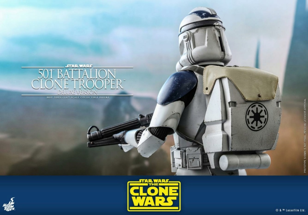501st Battalion Clone Trooper (Deluxe Version) - Hot Toys  0342