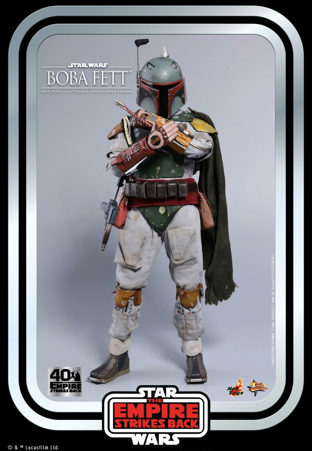 Boba Fett 1/6th scale Figure ESB 40th Anniv Hot Toys 0347