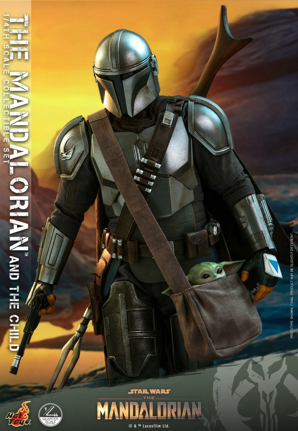 The Mandalorian & The Child Collectible Set - 1/4th Hot Toys 0349