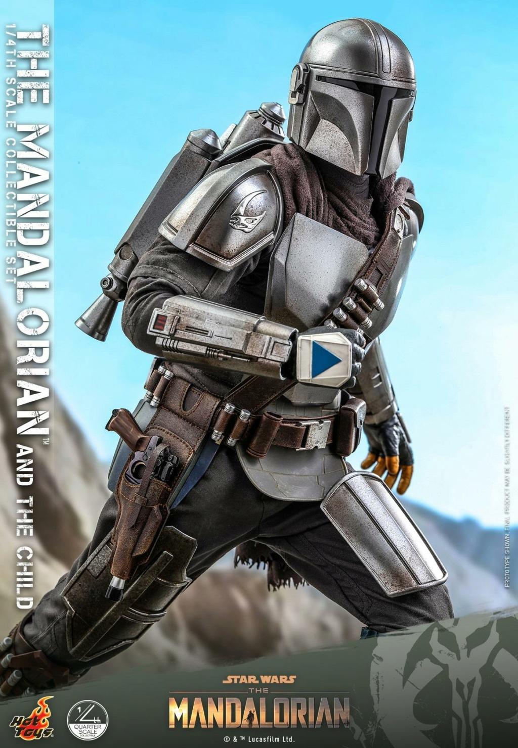 The Mandalorian & The Child Collectible Set - 1/4th Hot Toys 0449