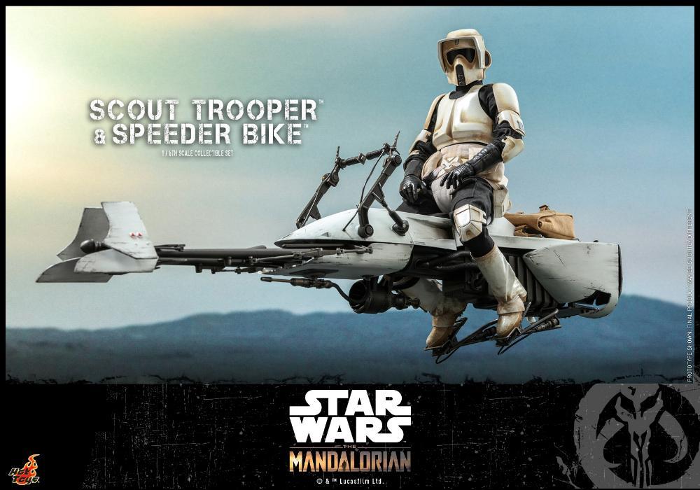 Scout Trooper & Speeder Bike Set 1/6 - Mandalorian - Hot Toy 0524