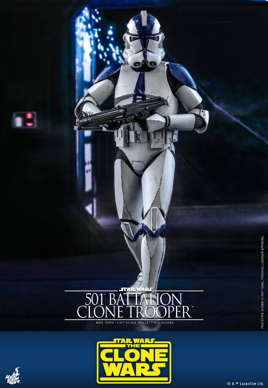501st Battalion Clone Trooper - The Clone Wars - Hot Toys 0536