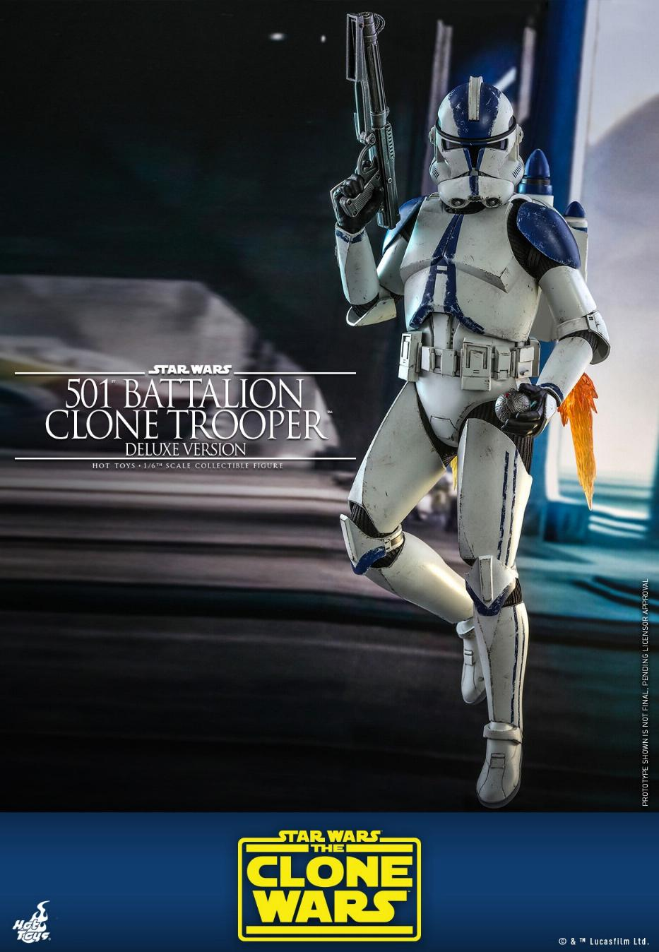 501st Battalion Clone Trooper (Deluxe Version) - Hot Toys  0537