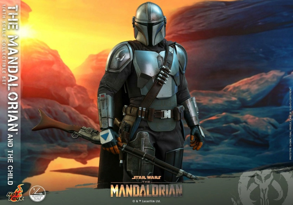 The Mandalorian & The Child Collectible Set - 1/4th Hot Toys 0545