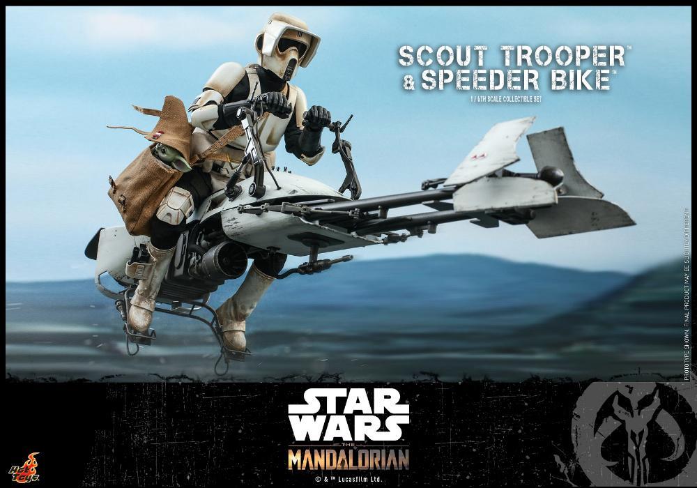 Scout Trooper & Speeder Bike Set 1/6 - Mandalorian - Hot Toy 0622