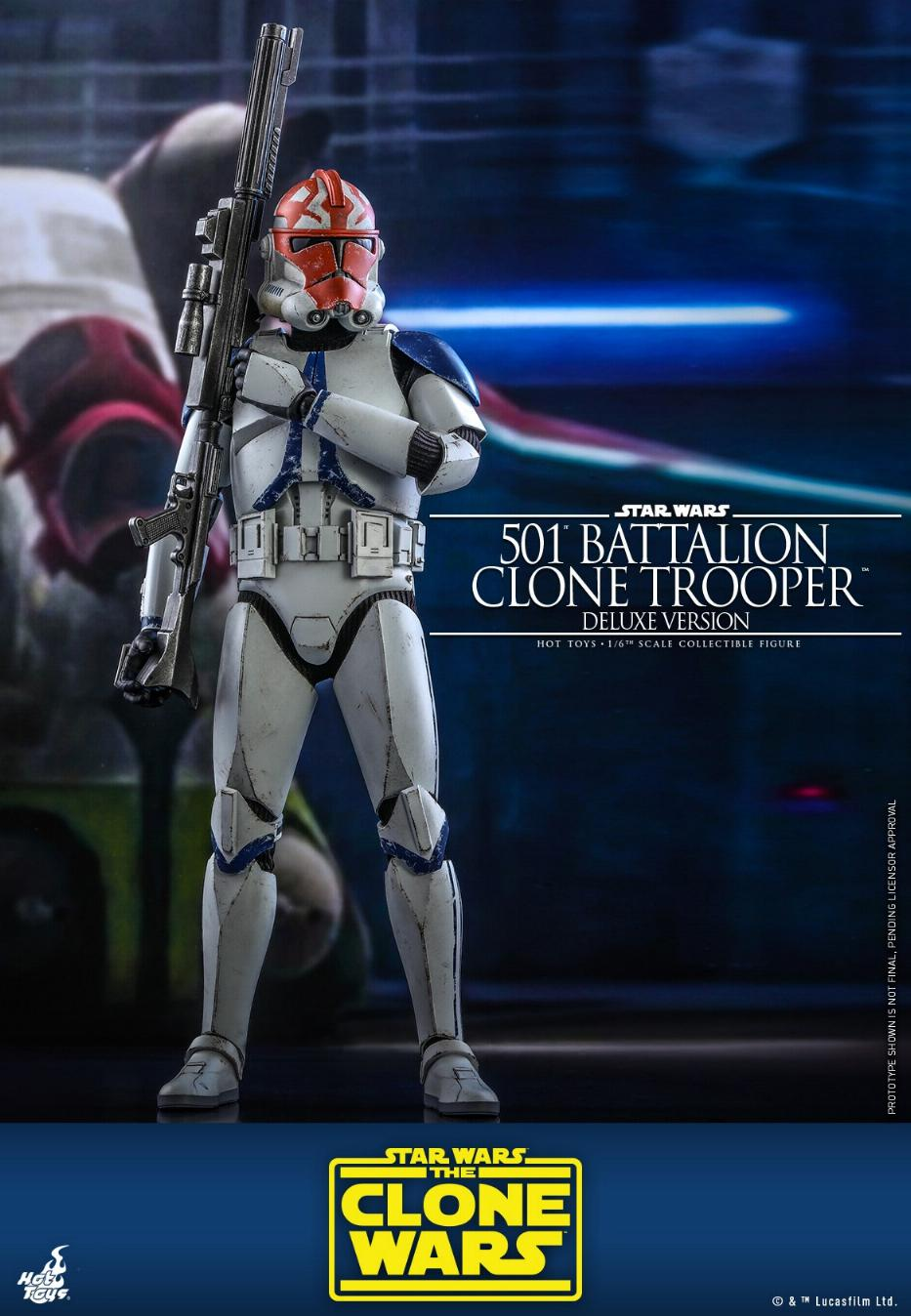 501st Battalion Clone Trooper (Deluxe Version) - Hot Toys  0635