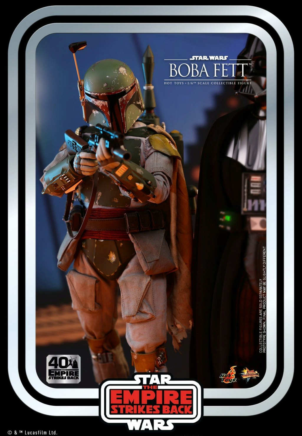 Boba Fett 1/6th scale Figure ESB 40th Anniv Hot Toys 0639