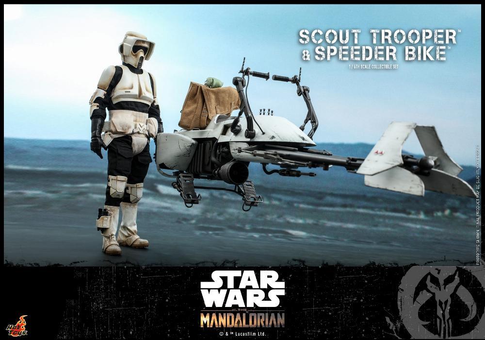 Scout Trooper & Speeder Bike Set 1/6 - Mandalorian - Hot Toy 0718