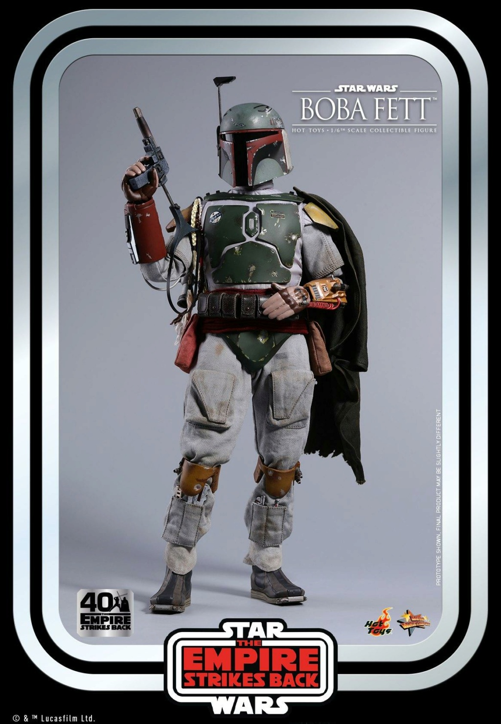 Boba Fett 1/6th scale Figure ESB 40th Anniv Hot Toys 0733