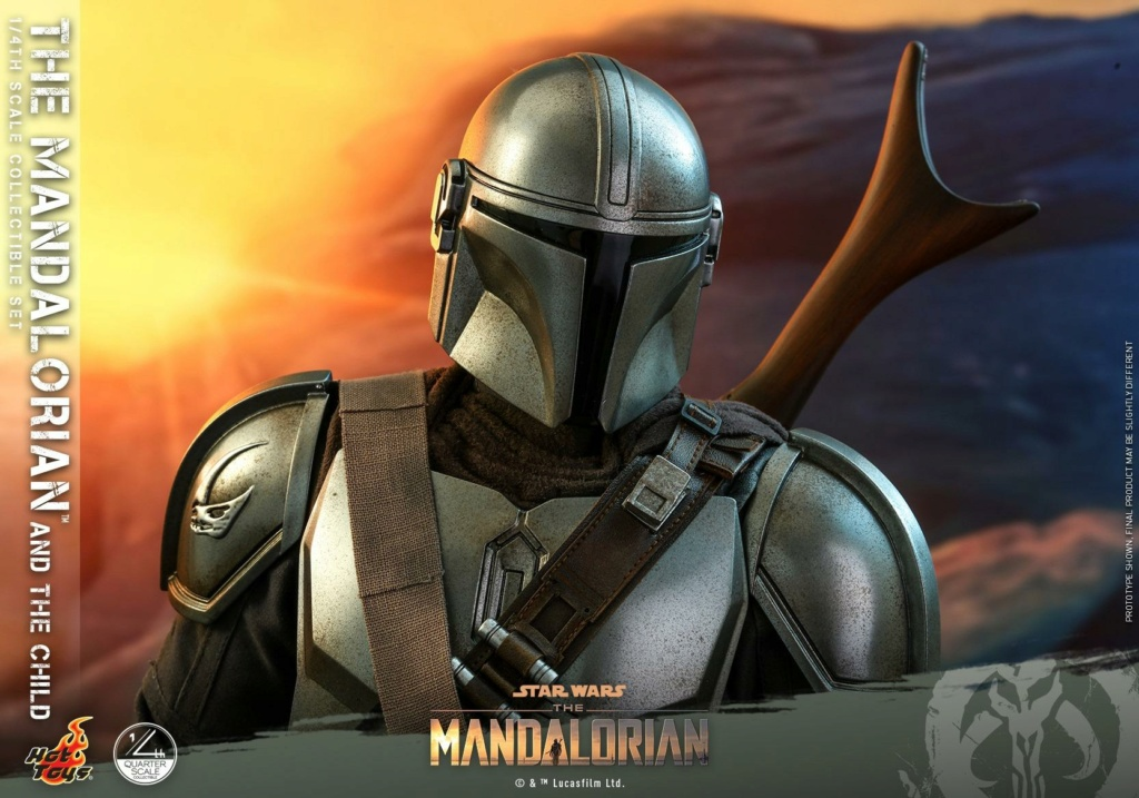 The Mandalorian & The Child Collectible Set - 1/4th Hot Toys 0734