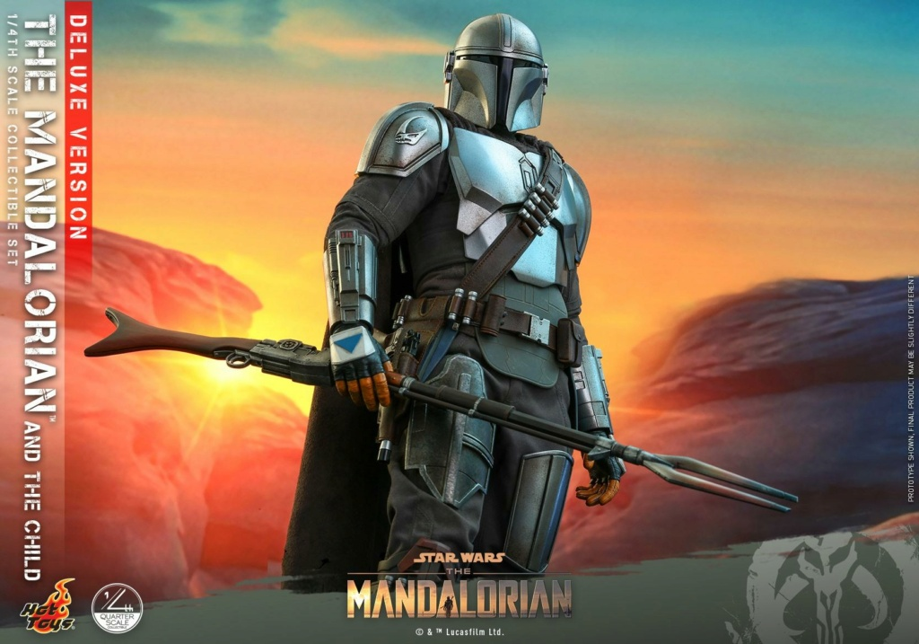 The Mandalorian & The Child Set (Deluxe) 1/4th - Hot Toys 0736