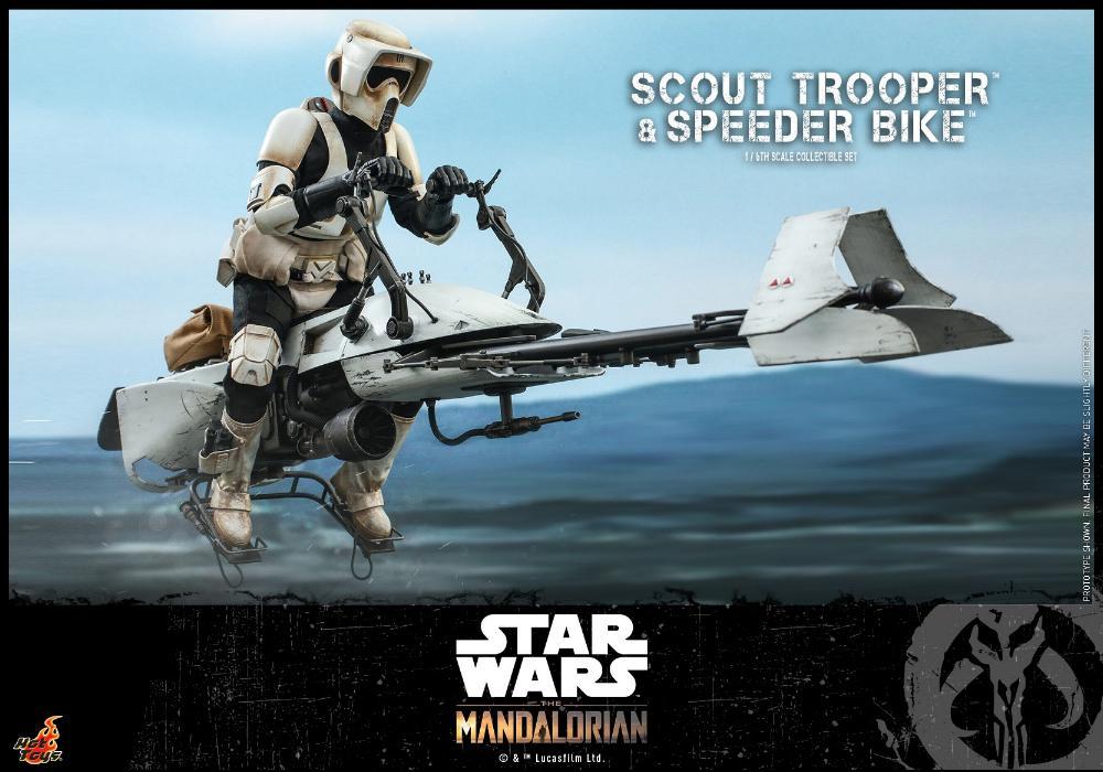 Scout Trooper & Speeder Bike Set 1/6 - Mandalorian - Hot Toy 0817
