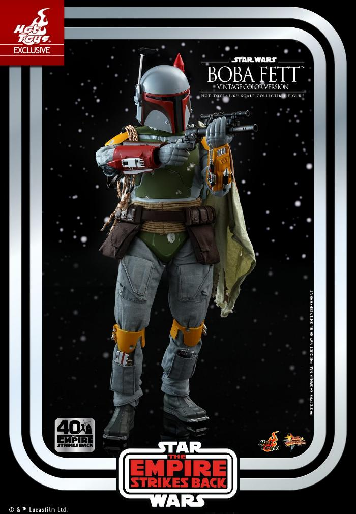 Boba Fett - 1/6th scale (Vintage Color Version) Hot Toys 0818