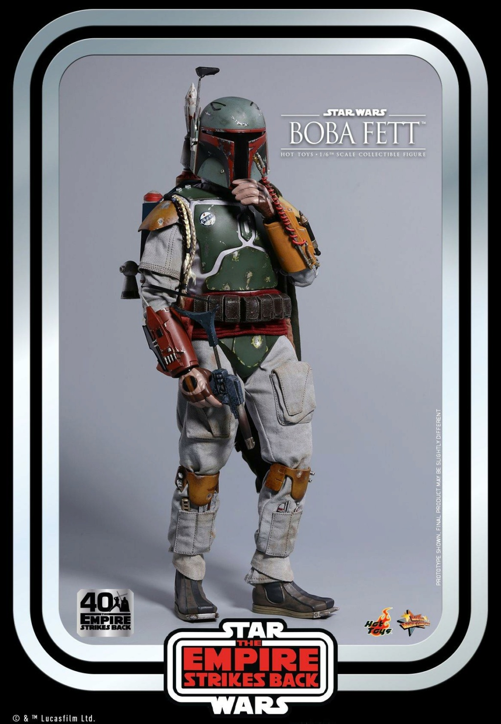 Boba Fett 1/6th scale Figure ESB 40th Anniv Hot Toys 0830