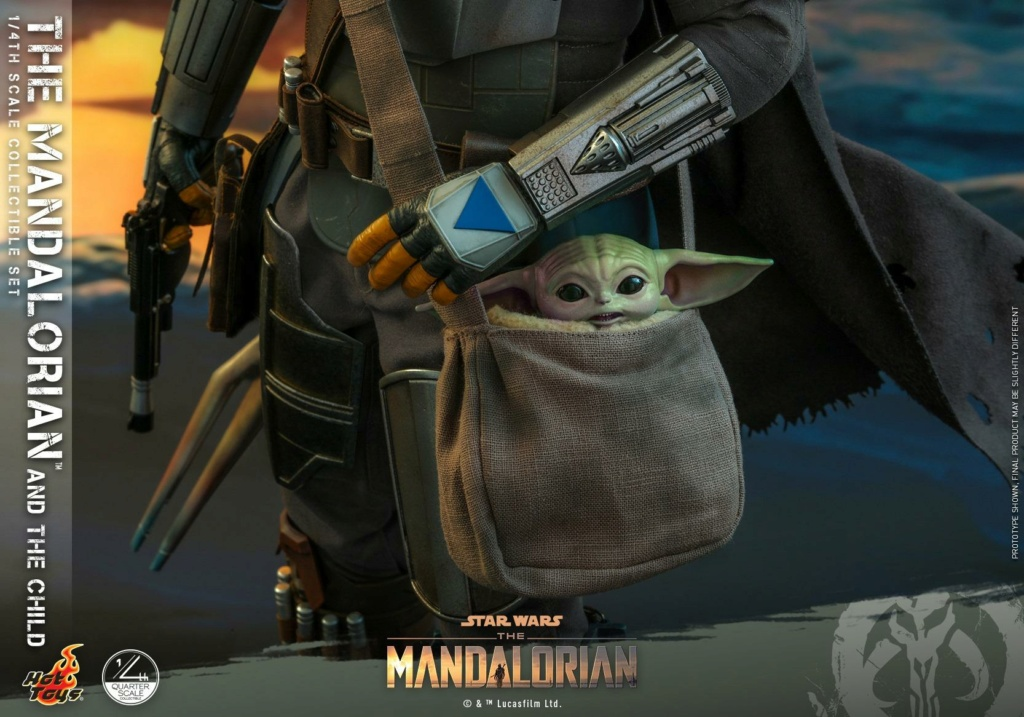 The Mandalorian & The Child Collectible Set - 1/4th Hot Toys 0831