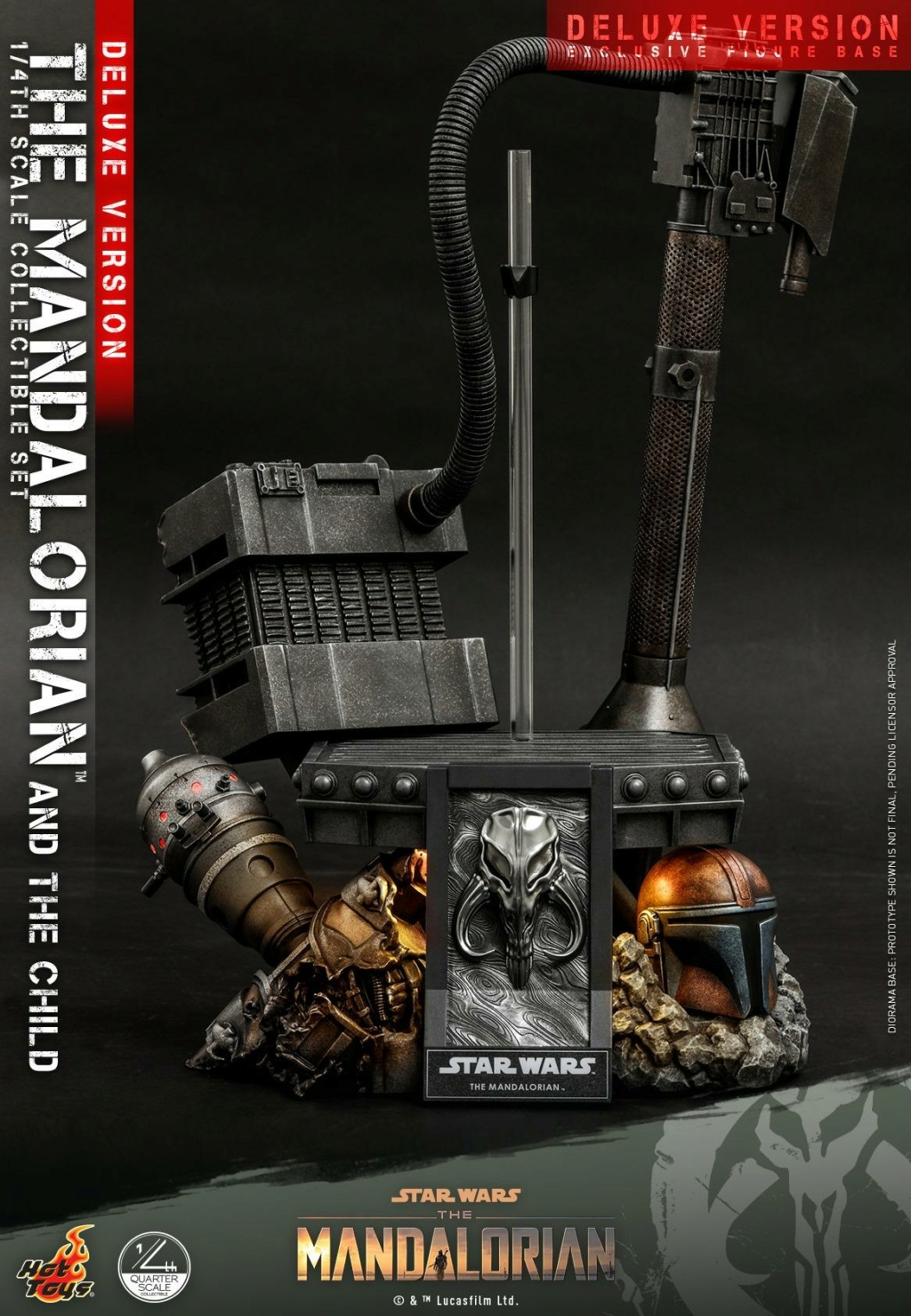 The Mandalorian & The Child Set (Deluxe) 1/4th - Hot Toys 0833