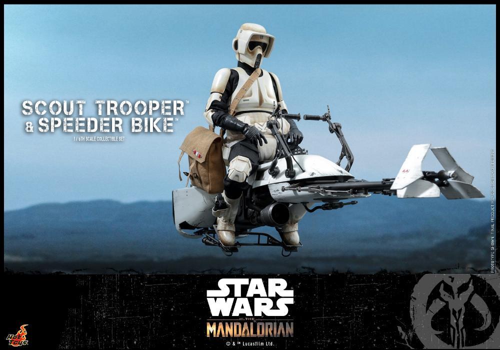 Scout Trooper & Speeder Bike Set 1/6 - Mandalorian - Hot Toy 0917
