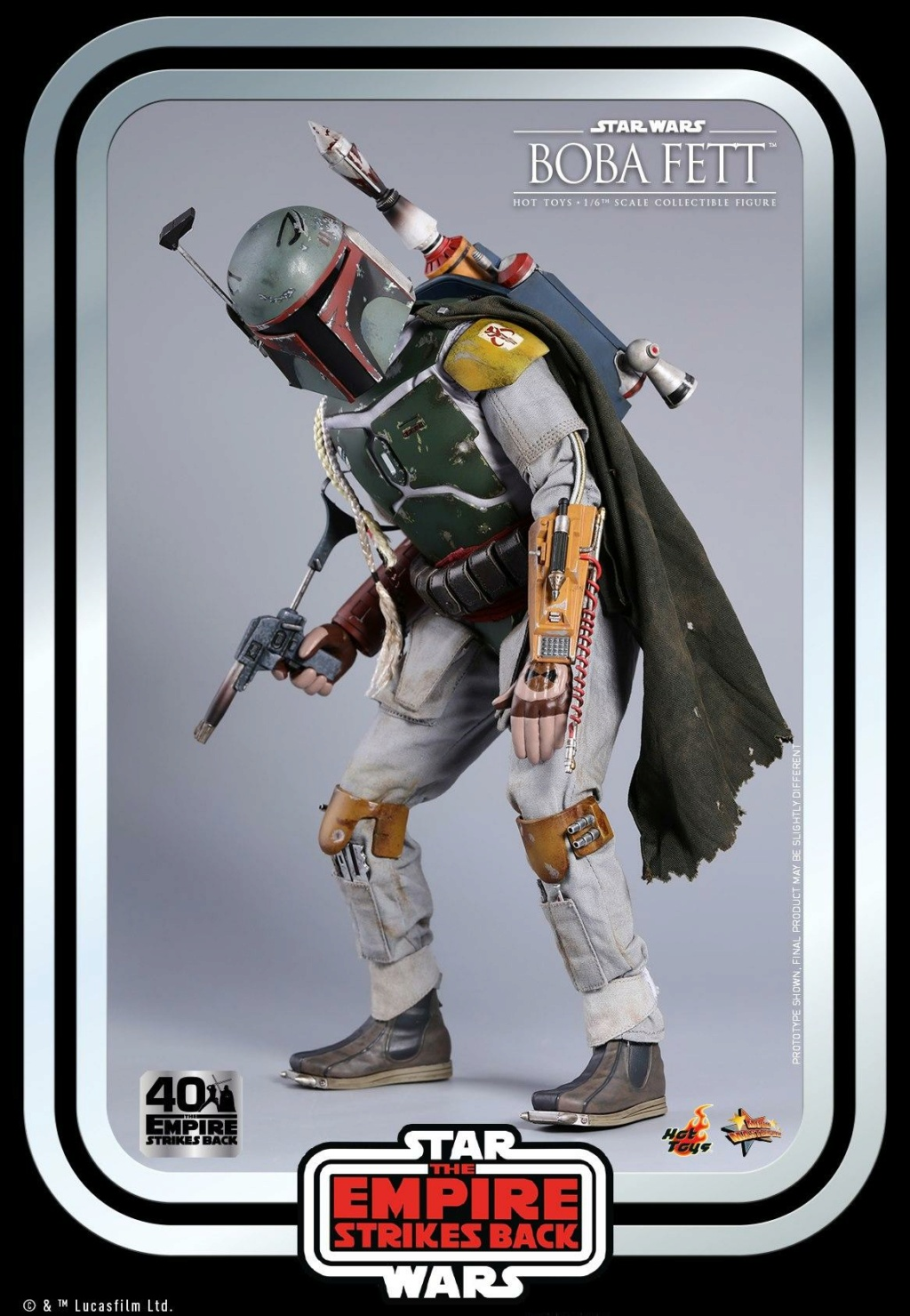 Boba Fett 1/6th scale Figure ESB 40th Anniv Hot Toys 0928