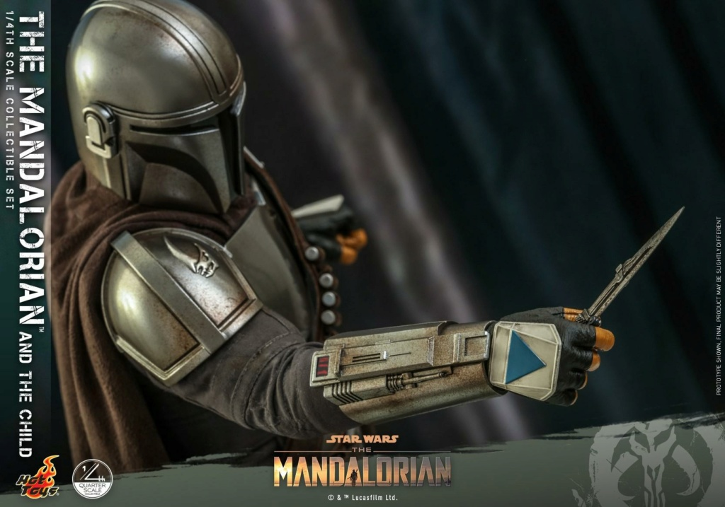 The Mandalorian & The Child Collectible Set - 1/4th Hot Toys 0929