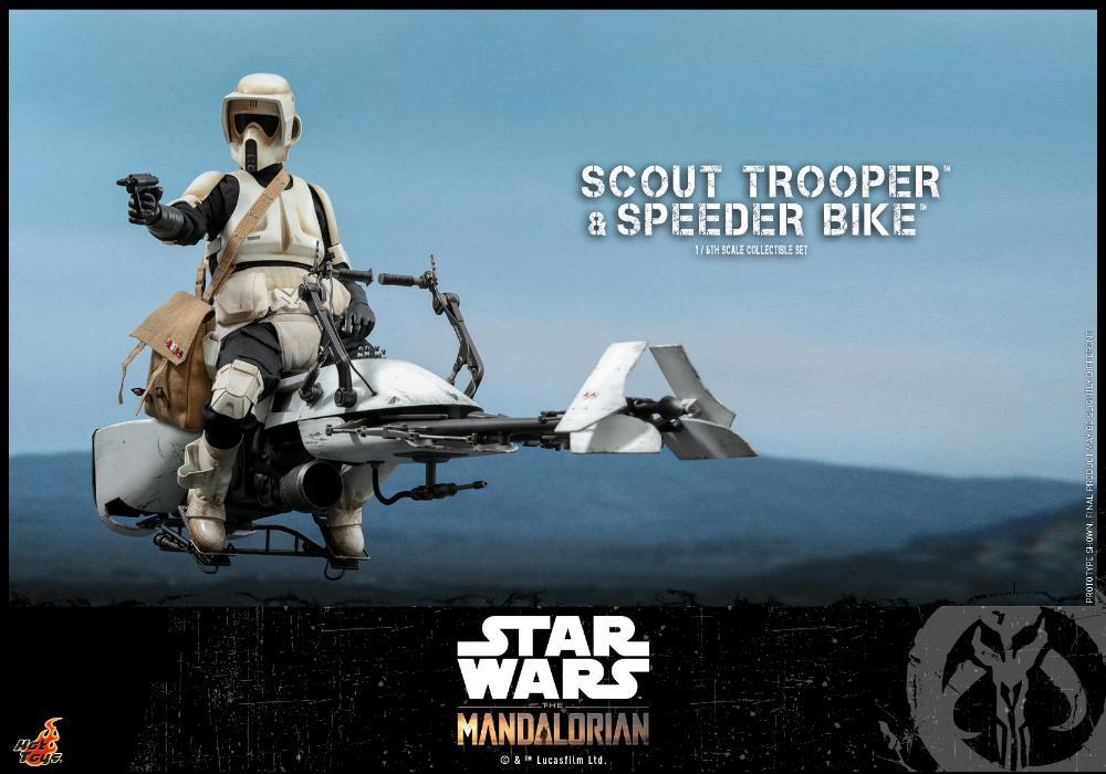 Scout Trooper & Speeder Bike Set 1/6 - Mandalorian - Hot Toy 1016